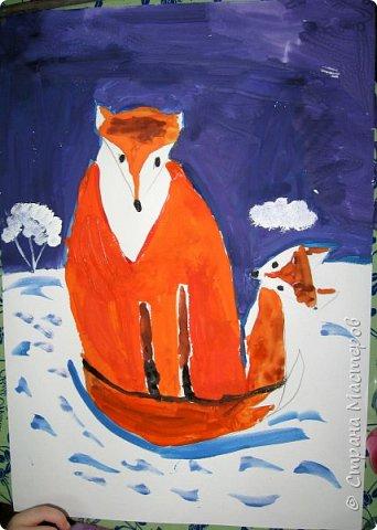 Рисовали еще в январе, но некогда было выложить работы. Первая работа моя, дальше детские (5-ти летки). фото 9