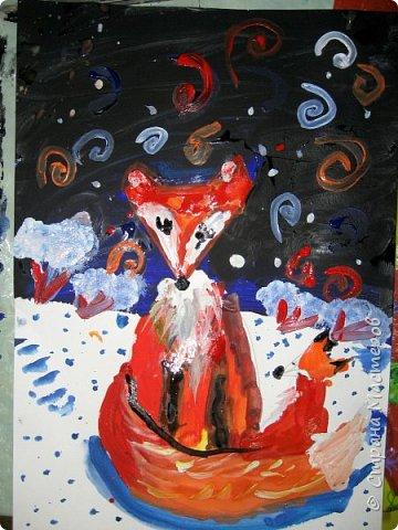 Рисовали еще в январе, но некогда было выложить работы. Первая работа моя, дальше детские (5-ти летки). фото 10