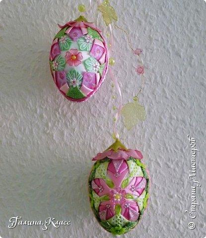 Купила я себе новые часы, и они вдохновили меня на создание весенней композиции - сотворила один шарик и два пасхальных яйца. фото 6
