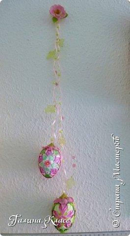 Купила я себе новые часы, и они вдохновили меня на создание весенней композиции - сотворила один шарик и два пасхальных яйца. фото 5