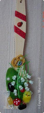 Здравствуйте, дорогие соседи!!!   Украсила лопаточки на  весенний праздник, получился декор-оберег для кухни.   №1 фото 1