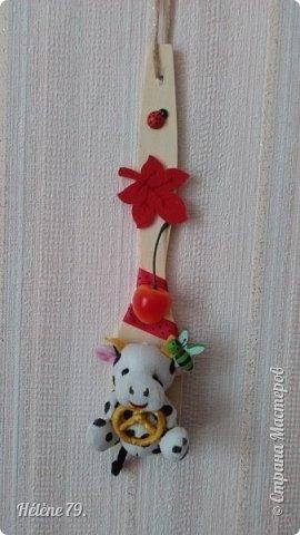 Здравствуйте, дорогие соседи!!!   Украсила лопаточки на  весенний праздник, получился декор-оберег для кухни.   №1 фото 14