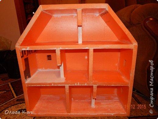 Вот такой кукольный домик для свинки Пеппа я сделала для своей дочери. Размер домика 60*20*60 см. фото 5