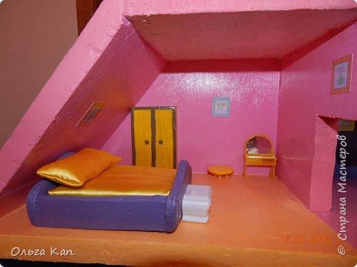 Вот такой кукольный домик для свинки Пеппа я сделала для своей дочери. Размер домика 60*20*60 см. фото 7