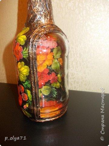 Здравствуйте!! А я сегодня опять с бутылками)))   Начинала их в феврале, отвлеклась на подарки,но вот праздники прошли и можно уже закончить начатое) фото 42