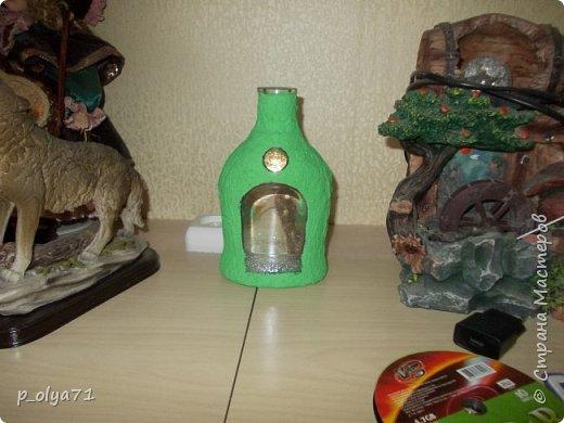 Здравствуйте!! А я сегодня опять с бутылками)))   Начинала их в феврале, отвлеклась на подарки,но вот праздники прошли и можно уже закончить начатое) фото 17