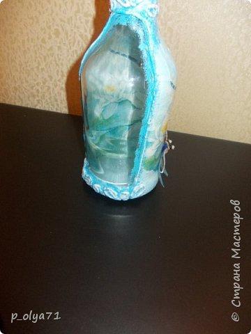 Здравствуйте!! А я сегодня опять с бутылками)))   Начинала их в феврале, отвлеклась на подарки,но вот праздники прошли и можно уже закончить начатое) фото 26