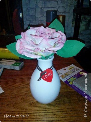 Мой первый цветок из фоамирана (роза) фото 1