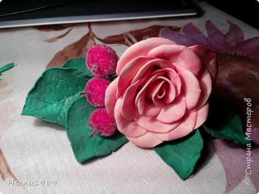 Мой второй цветок из фоамирана (тоже роза) фото 1