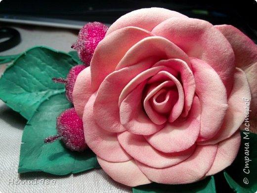 Мой второй цветок из фоамирана (тоже роза) фото 4
