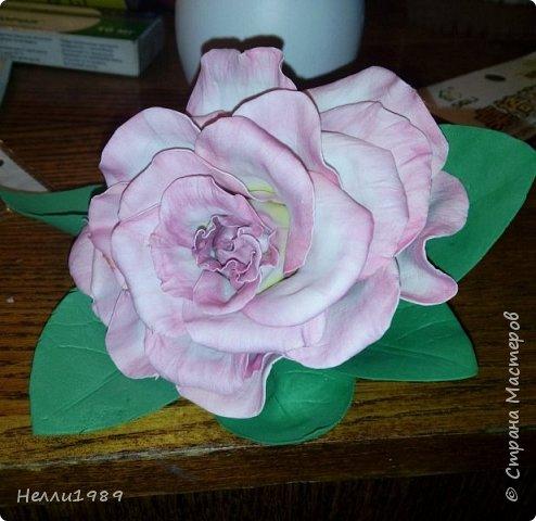 Мой первый цветок из фоамирана (роза) фото 2