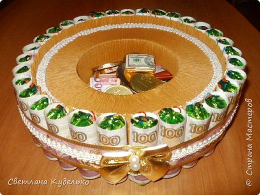 Здравствуйте,жители страны мастеров.Вот сделала тортик на юбилей сватьи по мк Татьяны Риске,спасибо ей большое.Юбилярша осталась  довольна. фото 3