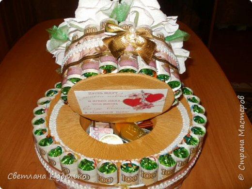 Здравствуйте,жители страны мастеров.Вот сделала тортик на юбилей сватьи по мк Татьяны Риске,спасибо ей большое.Юбилярша осталась  довольна. фото 2