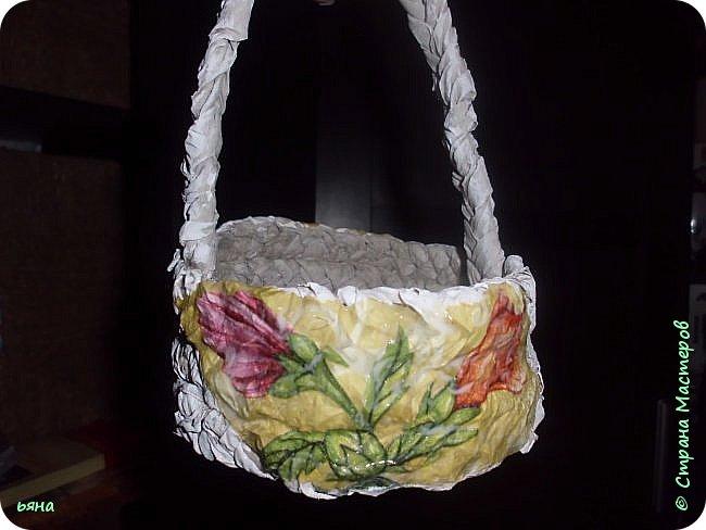 ПЛЕТЕМ - НЕ ПЛЕТЯ. Плетение необычное из туалетной бумаги фото 32