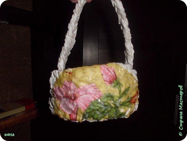 ПЛЕТЕМ - НЕ ПЛЕТЯ. Плетение необычное из туалетной бумаги фото 33