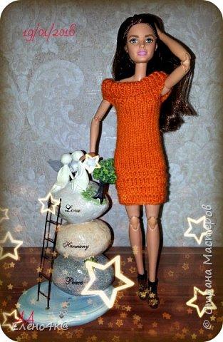 Самое первое платье, связанное мною для Дианы. фото 3