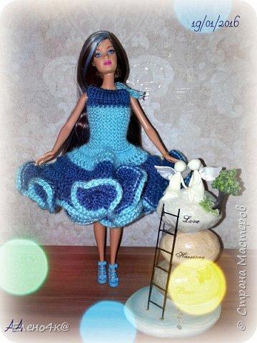 Самое первое платье, связанное мною для Дианы. фото 1