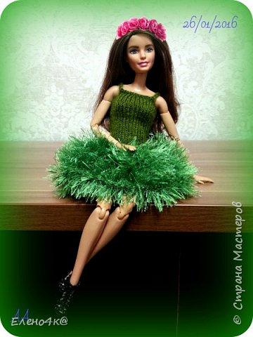 Самое первое платье, связанное мною для Дианы. фото 7