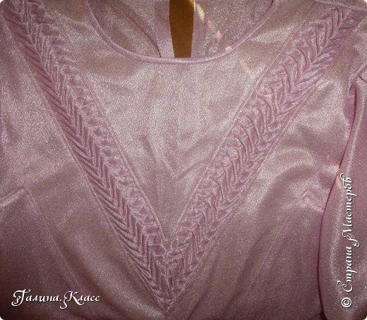 Нарядная блузка с декоративной вставкой. Даже не знаю, как назвать этот вид рукоделия - скорее всего, драпировка.  фото 1