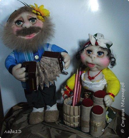 Новые куклы.Мужичок правда перепуганный немного,не ту частушку спел наверное. фото 1