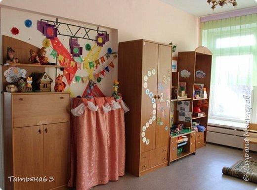 Здравствуйте, дорогие мои соседи!  Вот опять позвали в дет. садик оформлять и я конечно с радостью согласилась! Обычно  у детей интересуюсь, что хотели бы они увидеть на стене(направляю конечно мысли их). Большинство подготовишек проголосовало за мультик про Лунтика.  Это игровая зона, именно дом... фото 14