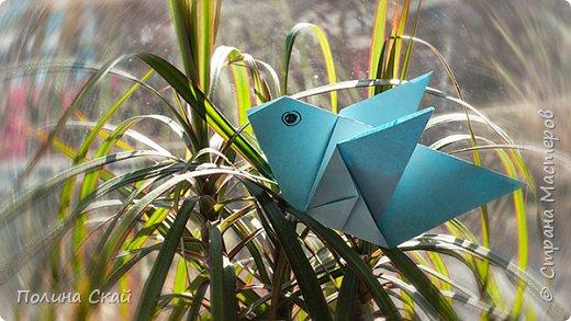 Оригами для детей. Простая птица из бумаги