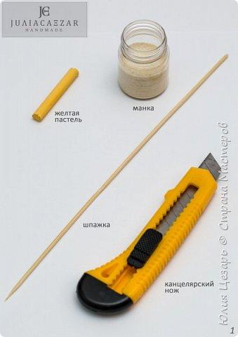 """Мини мастер-класс """"Как покрасить манку для создания тычинок"""" фото 2"""