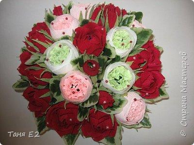 Делала подружке на день рождения, большое спасибо Даше Хомюк за ее мк роз осинок фото 1
