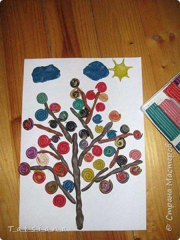 Делали мы дерево желаний из бисера  http://stranamasterov.ru/node/173800,  теперь вот из пластилина. фото 1
