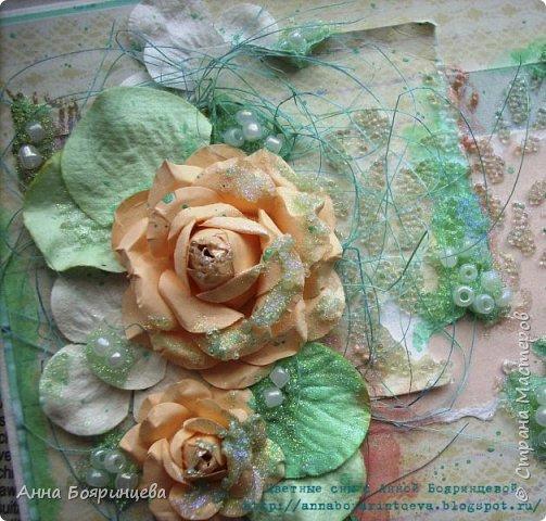 """Всем привет!!!! Хочу показать открыточку, которую сделала давно для СП """" В ожидании весны"""" фото 4"""