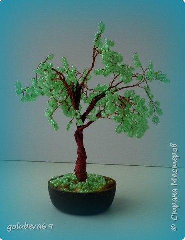 Наше новое деревце из бисера. фото 2
