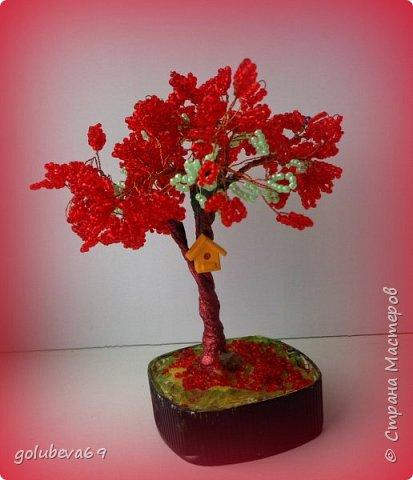 Наше новое деревце из бисера. фото 1