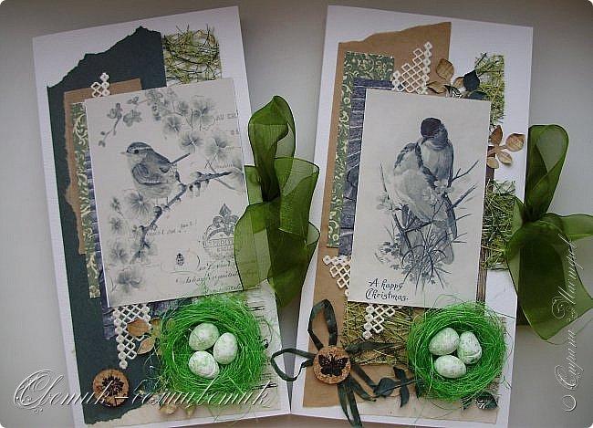 И вновь весна, и птицы вновь поют и гнезда неустанно вьют... Всем доброго весеннего дня! Это - две упаковки в форме книжки для коробочек конфет. фото 1