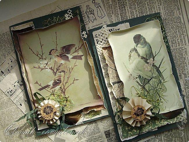 И вновь весна, и птицы вновь поют и гнезда неустанно вьют... Всем доброго весеннего дня! Это - две упаковки в форме книжки для коробочек конфет. фото 11