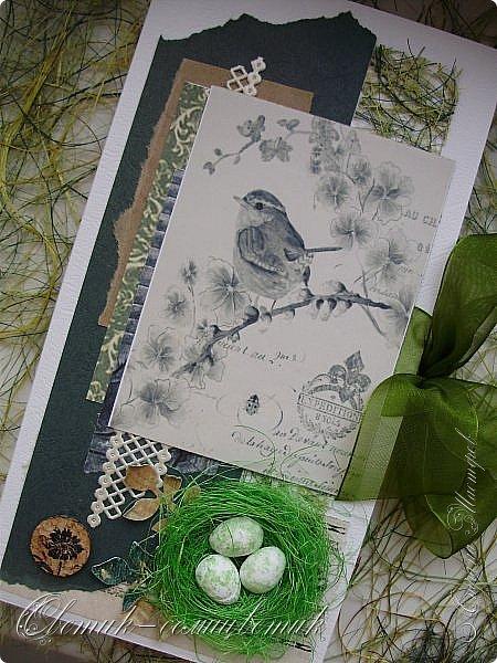 И вновь весна, и птицы вновь поют и гнезда неустанно вьют... Всем доброго весеннего дня! Это - две упаковки в форме книжки для коробочек конфет. фото 3