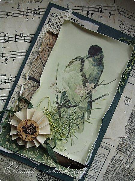 И вновь весна, и птицы вновь поют и гнезда неустанно вьют... Всем доброго весеннего дня! Это - две упаковки в форме книжки для коробочек конфет. фото 13