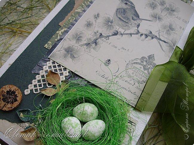 И вновь весна, и птицы вновь поют и гнезда неустанно вьют... Всем доброго весеннего дня! Это - две упаковки в форме книжки для коробочек конфет. фото 5