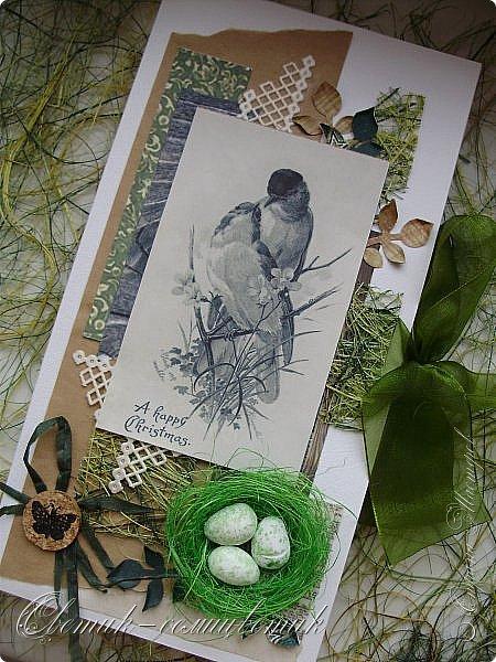 И вновь весна, и птицы вновь поют и гнезда неустанно вьют... Всем доброго весеннего дня! Это - две упаковки в форме книжки для коробочек конфет. фото 8