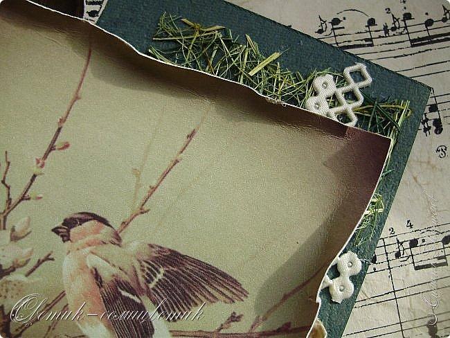 И вновь весна, и птицы вновь поют и гнезда неустанно вьют... Всем доброго весеннего дня! Это - две упаковки в форме книжки для коробочек конфет. фото 18