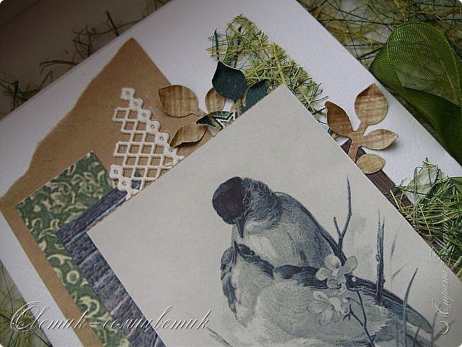И вновь весна, и птицы вновь поют и гнезда неустанно вьют... Всем доброго весеннего дня! Это - две упаковки в форме книжки для коробочек конфет. фото 10