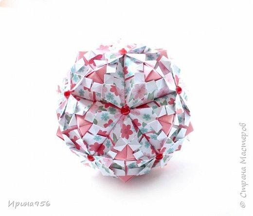 Рetal globe МК http://stranamasterov.ru/node/92773?c 30+30 модулей 5 х 2,5 см.  Размер около 6 см. фото 10