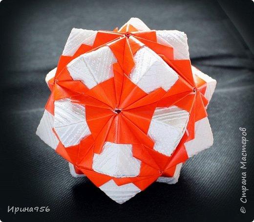 Рetal globe МК http://stranamasterov.ru/node/92773?c 30+30 модулей 5 х 2,5 см.  Размер около 6 см. фото 18