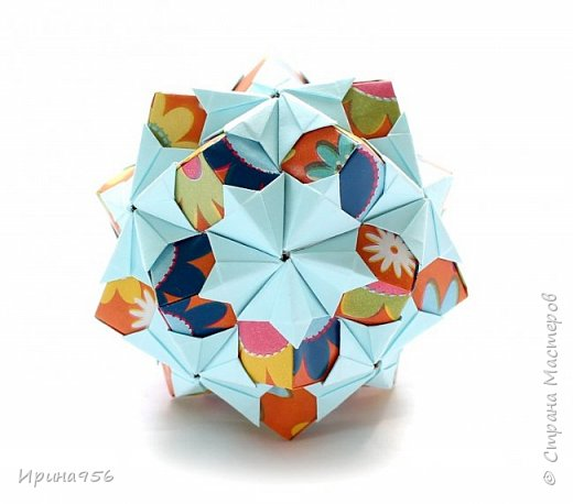 Рetal globe МК http://stranamasterov.ru/node/92773?c 30+30 модулей 5 х 2,5 см.  Размер около 6 см. фото 21