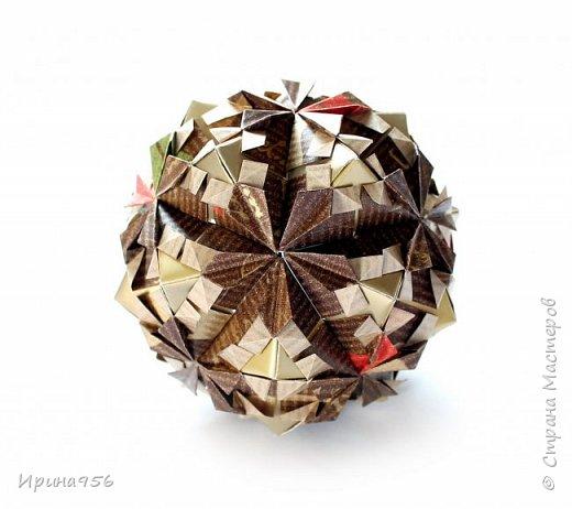 Рetal globe МК http://stranamasterov.ru/node/92773?c 30+30 модулей 5 х 2,5 см.  Размер около 6 см. фото 6