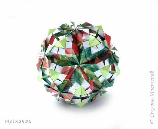 Рetal globe МК http://stranamasterov.ru/node/92773?c 30+30 модулей 5 х 2,5 см.  Размер около 6 см. фото 8