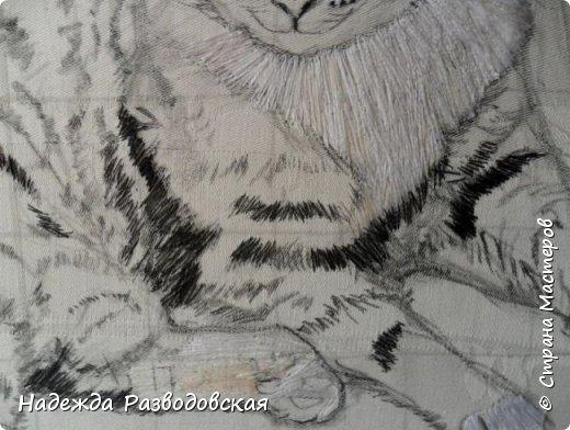 Наконец-то вышила  гладью еще одного кота. Как всегда  для  своей вышивки использовала синтетическую нить. фото 9