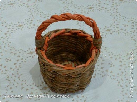 Первая попытка в плетении из газетных трубочек) фото 3