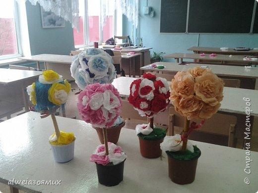 цветы из  салфеток фото 8
