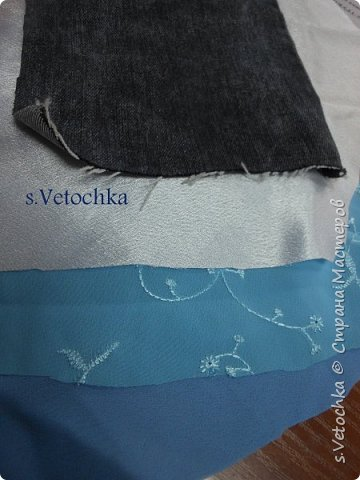 Училась создавать фактурную поверхность на простой ткани. У меня-джинса. фото 4