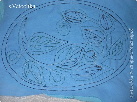 Училась создавать фактурную поверхность на простой ткани. У меня-джинса. фото 11